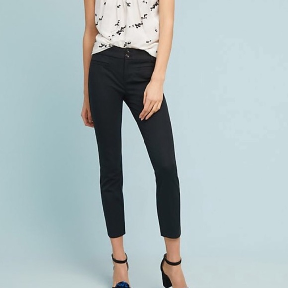Anthropologie Essential Slim Crop Trousers Size 10